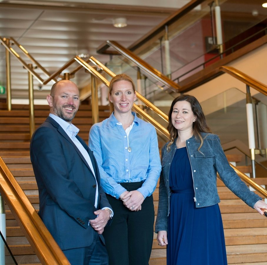 The Comms Leaders team: Vicki Marinker, Andrew Holland and Rebecca Tarry